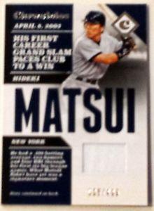 【送料無料】スポーツ メモリアル カード 2017 paninicshm wジャージーsp35499 ヤンキースhideki matsui 2017 panini chronicles cshm w jersey relic sp 35499 yankees