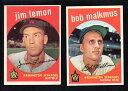 數位內容 - 【送料無料】スポーツ メモリアル カード 2 senators lot 1959 topps215 jim lemon151bob malkmus vgex and exmint2 senators lot 1959 topps 215 jim lemon 151 bob malkmu