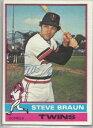 【送料無料】スポーツ メモリアル カード ミネソタツインズsteve braun1976トップスサインminnesota twins steve braun autographed 1976 topps