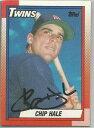 【送料無料】スポーツ メモリアル カード ミネソタツインズchip hale1990トップスサインminnesota twins chip hale autographed 1990 topps
