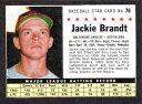 【送料無料】スポーツ メモリアル カード 1961post cereal76ジャッキーブラントbaltimore oriolesバージョンexmintc