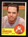 【送料無料】スポーツ メモリアル カード bob johnsonコウライウグイス1963 topps504 vgexcellent nocreasesbob johnson orioles 19..