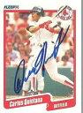 【送料無料】スポーツ メモリアル カード ボストンレッドソックスmlb1990カルロスキンタナサインfleerカード1990 carlos quintana autograph fleer card signed in person boston red sox mlb