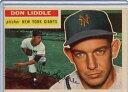 【送料無料】スポーツ メモリアル カード 1956トップスベースボールカードドンliddle gbピッチャーニューヨークジャイアンツex32...