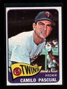 【送料無料】スポーツ メモリアル カード #1965 topps 255 camilo pascual twins nm lh4750
