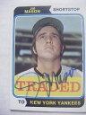 【送料無料】スポーツ メモリアル カード ジムメイソンヤンキースカードサイン#jim mason signed yankees 1974 topps traded baseball card autographed auto 618t