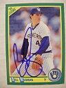 【送料無料】スポーツ メモリアル カード ビルスコアカードサイン#bill wegman signed brewers 1990 score baseball card auto autographed 188