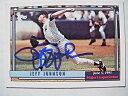 【送料無料】スポーツ メモリアル カード ジェフジョンソンレアデビューヤンキースベースボールカードjeff johnson signed r...