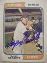 【送料無料】スポーツ メモリアル カード ウェインギャレットメッツベースボールカードサインエキスポ#wayne garrett signed mets 1974 topps baseball card auto autographed expos 510