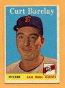 【送料無料】スポーツ メモリアル カード ベースボールカード#ジャイアンツ1958 topps baseball card 21 curt barclay giants vgex