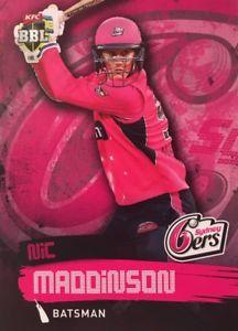 【送料無料】スポーツ メモリアル カード タップカードシドニー2015 tap n play base card sydney sixers nic maddinson