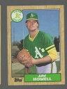 【送料無料】スポーツ メモリアル カード ジェイハウエルコレクターカード391 jay howell 1987 baseball collector card