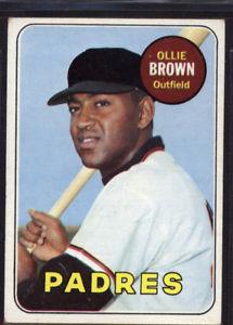 【送料無料】スポーツ メモリアル カード #オリーブラウン1969 topps 149 ollie brown ex *094791