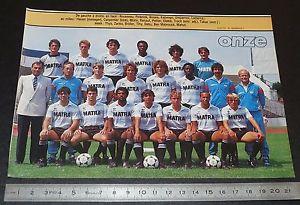 【送料無料】スポーツ メモリアル カード パリクリッピングポスターサッカーレーシングクラブデュマノワールclipping poster football 19851986 d2 racing club paris spc matra dumanoir