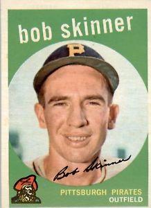 【送料無料】スポーツ メモリアル カード ボブスキナー1959 topps 320 bob skinner exmt d268739