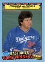 【送料無料】スポーツ メモリアル カード 1987ゲームベースボールカードフェルナンドバレンズエラ1987 fleer game winners baseball card fernando valenzuela