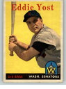 【送料無料】スポーツ メモリアル カード 1958topps173 eddie yost senators exmt set break324697kycards1958 topps 173 eddie yost senators exmt set break 324697 kycar