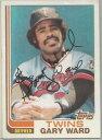 【送料無料】スポーツ メモリアル カード ミネソタツインズゲイリーサインminnesota twins gary ward autographed 1982 topps