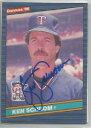 【送料無料】スポーツ メモリアル カード ミネソタツインズken schrom1986donrussサインminnesota twins ken schrom autographed 1986 donruss