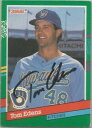 【送料無料】スポーツ メモリアル カード ミルウォーキーブリュワーズtom edens1991donrussサインmilwaukee brewers tom edens autographed 1991 donruss