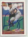 【送料無料】スポーツ メモリアル カード ミネソタツインズファンberenguer1991トップスサインminnesota twins juan berenguer autographed 1991 topps