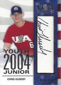 【送料無料】スポーツ メモリアル カード 200607 アメリカ20049クリスhuseby auto475200607 usa baseball 2004 youth junior signatures 9 chris huseby auto 475
