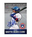 【送料無料】スポーツ メモリアル カード サインサウスベンドカブスチームセットカードjhonny bethencourt signed autographed 2018 south bend cubs team set card