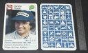 【送料無料】スポーツ メモリアル カード カード19841グランプリf1ネルソンピケットbrabhamcard auto racer 1984 formula 1 grand prix f1 nelson piquet brabham