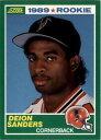 【送料無料】スポーツ メモリアル カード スコア#カード1989 score 246 deion sanders rc rookie card nmmt