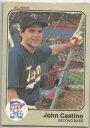 【送料無料】スポーツ メモリアル カード ミネソタツインズjohn castino1983fleerサインminnesota twins john castino autographed 1983 fleer
