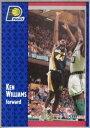 【送料無料】スポーツ メモリアル カード バスケットボールマップ#ケンウィリアムズfleer 1991 1992 basketball nba map 295 ken williams