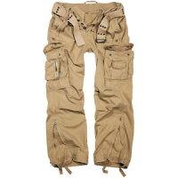 【送料無料】キャンプ用品 branditヴィンテージズボンベルトズボンベージュbrandit royal vintage trousers combat work casual cotton army belt pants beigeの画像