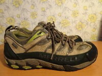 【送料無料】キャンプ用品 メンズウォーキングシューズmens merrell goretex walking shoes uk 9の画像