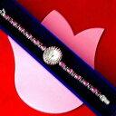 【送料無料】natural rhodolite garnet amp; ruby 925 sterling silver watch 26 gr 75 cmin box