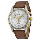 【送料無料】nib victorinox swiss army two tone brown leather chronograph watch ccl 241510