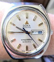 ║заВнал╣на║шgents 1970s swiss ss doxa conquistador automatic eta2789 day date watch service