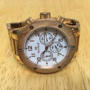 【送料無料】folli follie lady rose gold tone analog quartz chronograph watch hour~ batter