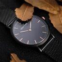 【送料無料】geekthink stainless steel fine mesh strap ultra thin watches quartz men luxury s