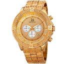 【送料無料】mens joshua amp; sons jx121yg chronograph 24 hour indicator date bracelet watch