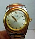 【送料無料】vintage esq movado yellow gold stainless steel mens wrist watch day indic a6