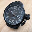 【送料無料】lancaster italy mens 100m diver steel analog quartz watch hours~date~ battery