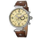 【送料無料】 mens august steiner as8131br swiss quartz daydate brown leather watch