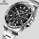 【送料無料】megir luxury brand watch men analog chronograph quartz xmas gifts for him father