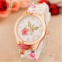 【送料無料】delonix regia flowers i love gardening rare novelty woman watch quartz