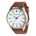 【送料無料】quiksilver mens the timebox leather analogue watch silver bnwt