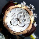 【送料無料】invicta reserve venom elegant leather white swiss movement chronograph watch