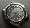 【送料無料】1970s technos sky diver 200m stainless steel wristwatch