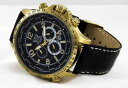 【送料無料】cavadini chronograph streetfighter tachymeter, drehbarer gmtring, goldschwarz