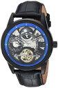 【送料無料】invicta mens objet d art automatic stainless steel and leather casual watch 2