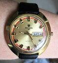 【送料無料】stunning 1970s gents gp nivada sp auto 21 jewel eta 2789 day date watch serviced